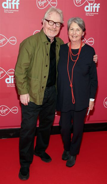Paul Brady and  Mary Elliott at the World Premiere of Citizens of Boomtown at the Virgin Media Dublin International Film Festival at Cineworld, Dublin. Pic: Brian McEvoy Photography.