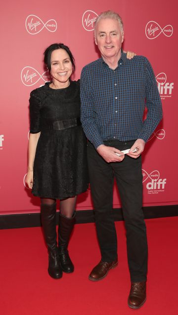 Andrea Corr and Dave Fanning at the World Premiere of Citizens of Boomtown at the Virgin Media Dublin International Film Festival at Cineworld, Dublin. Pic: Brian McEvoy Photography.