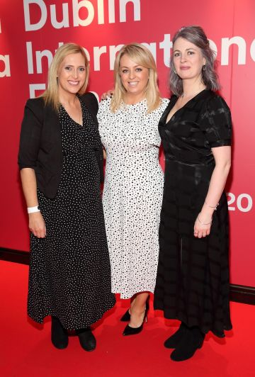 Pamela Lee, Jen Keogh-Reilly and Ciara Scullion at the World Premiere of Citizens of Boomtown at the Virgin Media Dublin International Film Festival at Cineworld, Dublin. Pic: Brian McEvoy Photography.