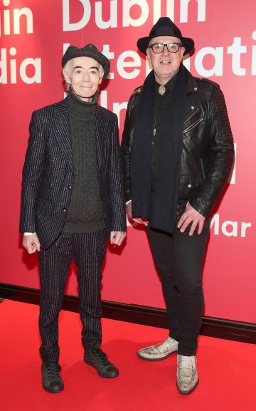 BP Fallon and Pete Casey at the World Premiere of Citizens of Boomtown at the Virgin Media Dublin International Film Festival at Cineworld, Dublin. Pic: Brian McEvoy Photography.