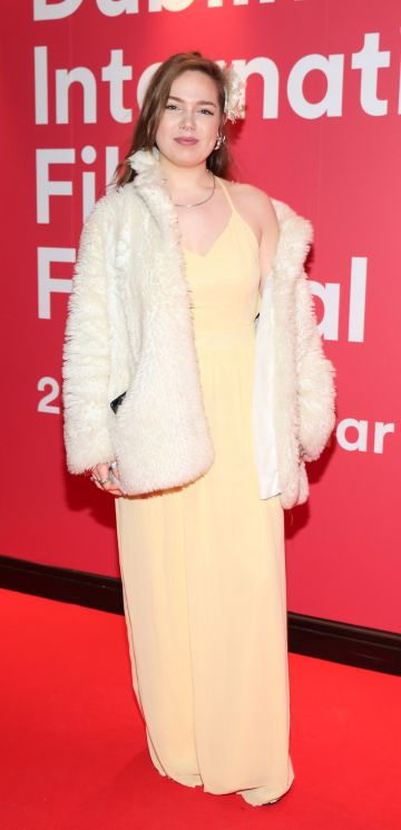 Brianna Marshal at the World Premiere of Citizens of Boomtown at the Virgin Media Dublin International Film Festival at Cineworld, Dublin. Pic: Brian McEvoy Photography.