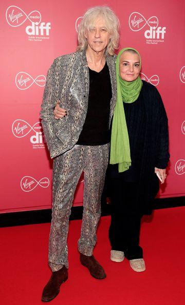 Bob Geldof and Sinead O Connor at the Virgin Media Dublin International Film Festival Irish Premiere of Innocent Boy at the Lighthouse Cinema, Dublin. Pic: Brian McEvoy.