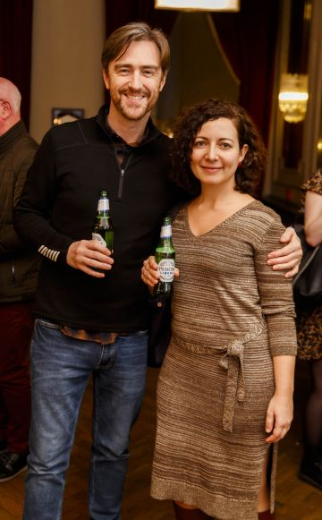Yan Murray and Deborah Bazzani at the launch of Cinema di Peroni, celebrating Italy in the movies, and the latest addition to its portfolio Peroni Libera 0.0%. Cinema di Peroni Dublin took place at The Stella Cinema in Rathmines, screening the award nominated The Talented Mr. Ripley. Picture: Andres Poveda