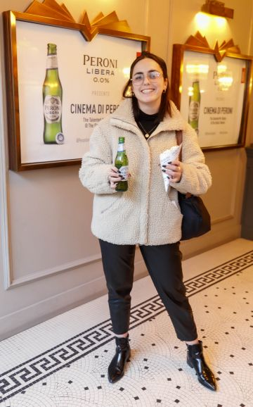 Saoirse Dalton at the launch of Cinema di Peroni, celebrating Italy in the movies, and the latest addition to its portfolio Peroni Libera 0.0%. Cinema di Peroni Dublin took place at The Stella Cinema in Rathmines, screening the award nominated The Talented Mr. Ripley. Picture: Andres Poveda