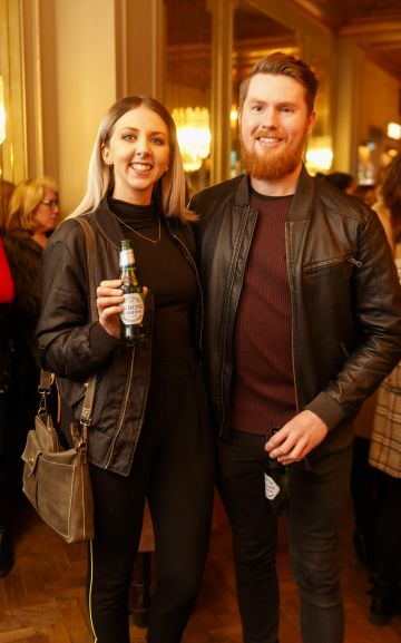 Sonya Beatty and David Cosgrove at the launch of Cinema di Peroni, celebrating Italy in the movies, and the latest addition to its portfolio Peroni Libera 0.0%. Cinema di Peroni Dublin took place at The Stella Cinema in Rathmines, screening the award nominated The Talented Mr. Ripley. Picture: Andres Poveda