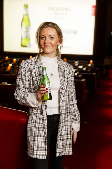 Gina Hollan at the launch of Cinema di Peroni, celebrating Italy in the movies, and the latest addition to its portfolio Peroni Libera 0.0%. Cinema di Peroni Dublin took place at The Stella Cinema in Rathmines, screening the award nominated The Talented Mr. Ripley. Picture: Andres Poveda
