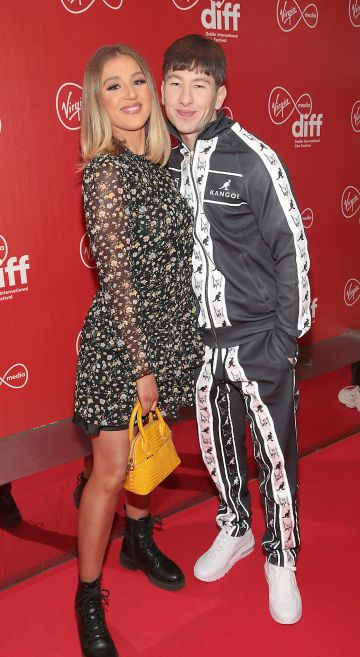 Barry Keoghan and girlfriend Shona Guerin at the Virgin Media Dublin International Film Festival Irish Premiere screening  of Calm With Horses at the Lighthouse Cinema, Dublin. Picture: Brian McEvoy.