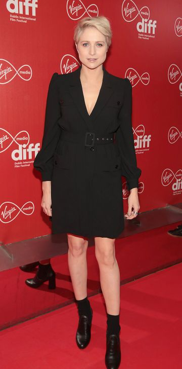 Niamh Algar at the Virgin Media Dublin International Film Festival Irish Premiere screening  of Calm With Horses at the Lighthouse Cinema, Dublin. Picture: Brian McEvoy.