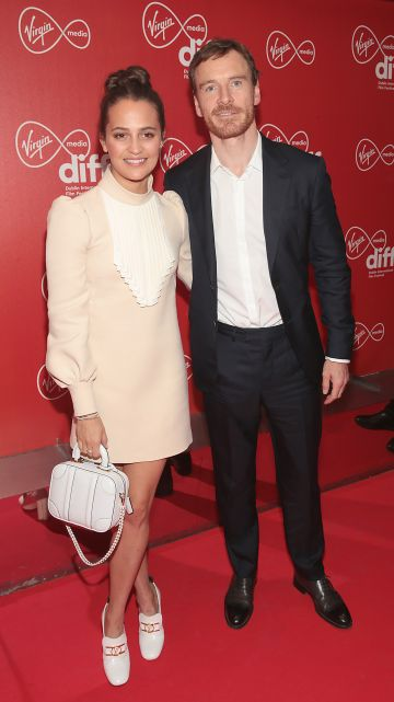 Michael Fassbender and his wife Alicia Vikander at the Virgin Media Dublin International Film Festival Irish Premiere screening  of Calm With Horses at the Lighthouse Cinema, Dublin. Picture: Brian McEvoy.