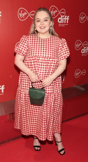 Actress Nicola Coughlan at the Virgin Media Dublin International Film Festival Irish Premiere screening  of Calm With Horses at the Lighthouse Cinema, Dublin. Picture: Brian McEvoy.
