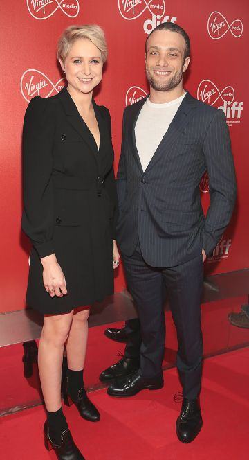 Niamh Algar and Cosmos Jarvis at the Virgin Media Dublin International Film Festival Irish Premiere screening  of Calm With Horses at the Lighthouse Cinema, Dublin. Picture: Brian McEvoy.