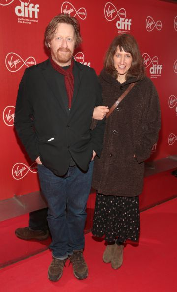 David Wilmot and Sophie Wilmot at the Virgin Media Dublin International Film Festival Irish Premiere screening  of Calm With Horses at the Lighthouse Cinema, Dublin. Picture: Brian McEvoy.