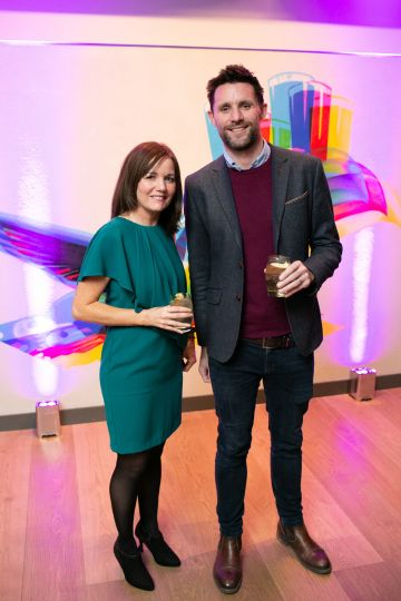 Fiona Harold (Guinness Storehouse) and David Mc Conn (Big Bus Tours) pictured at the launch of the highly anticipated new Gravity Bar at the Guinness Storehouse. Photo by Richie Stokes.