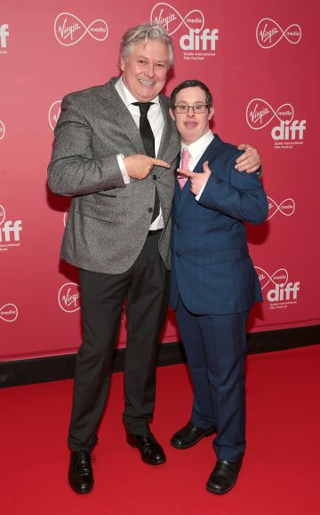 Conleth Hill and Daniel Ryan at the Virgin Media Dublin International Film Festival Closing Gala screening of Herself at Cineworld, Dublin. Picture: Brian McEvoy.