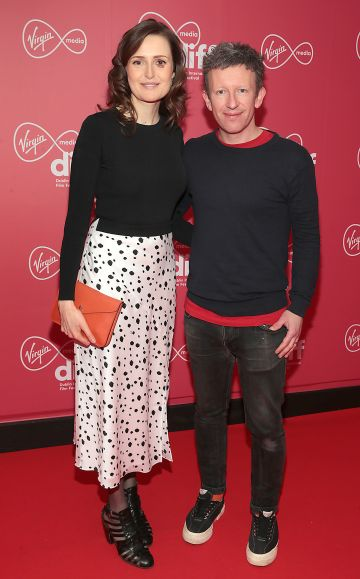 Clare Dunne and Malcolm Campbell at the Virgin Media Dublin International Film Festival Closing Gala screening of Herself at Cineworld, Dublin. Picture: Brian McEvoy.