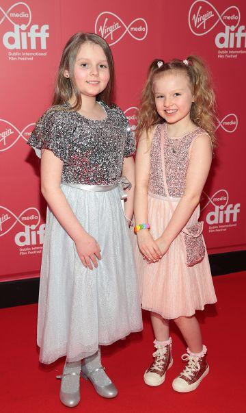 Ruby Rose O Hara and Molly Kate McCann at the Virgin Media Dublin International Film Festival Closing Gala screening of Herself at Cineworld, Dublin. Picture: Brian McEvoy.