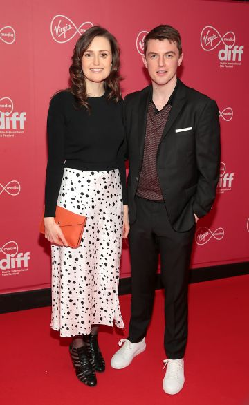 Clare Dunne and Jack Nolan at the Virgin Media Dublin International Film Festival Closing Gala screening of Herself at Cineworld, Dublin. Picture: Brian McEvoy.