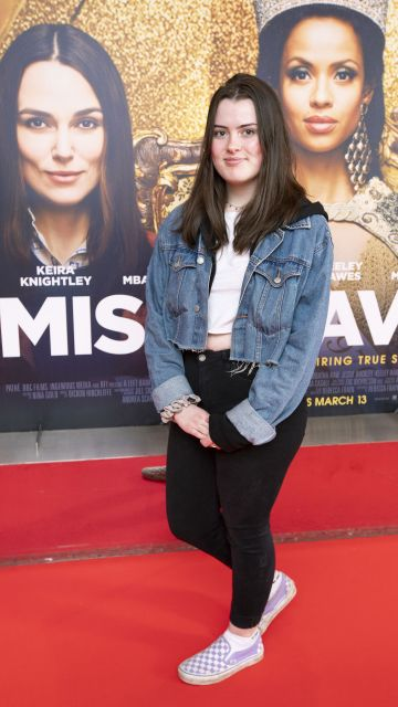 Aimée McGuinness at the special preview screening of Misbehaviour at the Lighthouse, Cinema,Dublin. Photo: Brian McEvoy Photography.