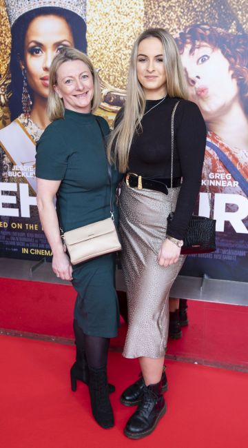 Linda Hannigan and Abbie Hannigan at the special preview screening of Misbehaviour at the Lighthouse, Cinema,Dublin. Photo: Brian McEvoy Photography.