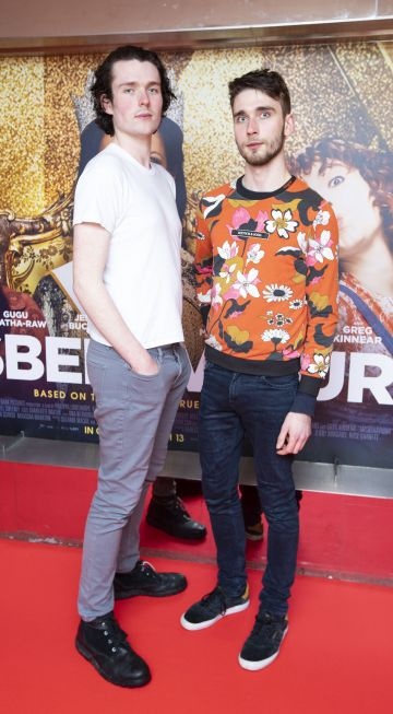 Conrad JB and Josip Gojevic at the special preview screening of Misbehaviour at the Lighthouse, Cinema,Dublin. Photo: Brian McEvoy Photography.