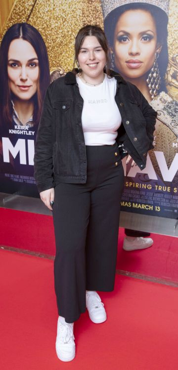 Natalia Ruszaj at the special preview screening of Misbehaviour at the Lighthouse, Cinema,Dublin. Photo: Brian McEvoy Photography.