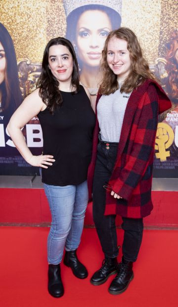 Camelia Lefebvre-Rafik and Rachel Marley at the special preview screening of Misbehaviour at the Lighthouse, Cinema,Dublin. Photo: Brian McEvoy Photography.