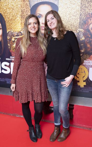 Sarah Hensiek and Verena Backhaus at the special preview screening of Misbehaviour at the Lighthouse, Cinema,Dublin. Photo: Brian McEvoy Photography.
