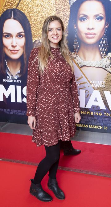 Sarah Hensiek at the special preview screening of Misbehaviour at the Lighthouse, Cinema,Dublin. Photo: Brian McEvoy Photography.