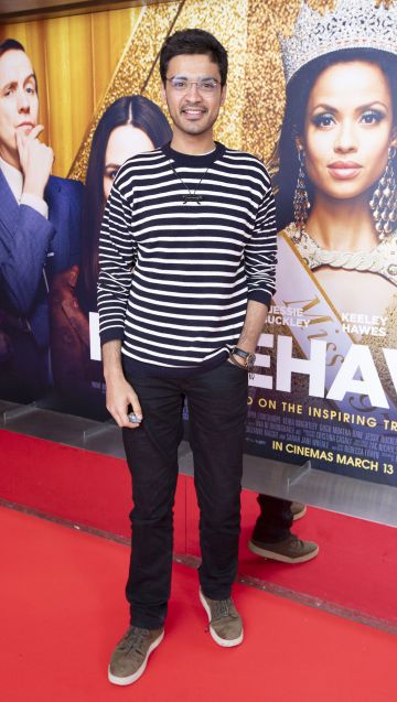 Aadya Rawat at the special preview screening of Misbehaviour at the Lighthouse, Cinema,Dublin. Photo: Brian McEvoy Photography.