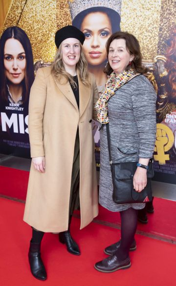 Naoimh Wilkins and Annette O Meara at the special preview screening of Misbehaviour at the Lighthouse, Cinema,Dublin. Photo: Brian McEvoy Photography.