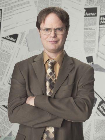 Rainn Wilson as Dwight Schrute in NBC's The Office. NBC Photo: Mitchell Haaseth