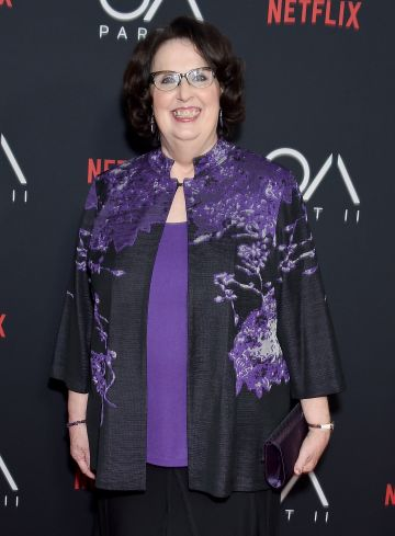 "Phyllis Smith, who starred as Phyllis Vance in The Office,  arrives at Netflix's ""The OA Part II"" Premiere on March 19, 2019.  (Photo by Gregg DeGuire/WireImage)"