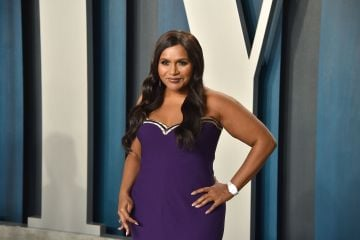 Mindy Kaling, who starred as Kelly Kapoor in The Office, attends the 2020 Vanity Fair Oscar Party. (Photo by David Crotty/Patrick McMullan via Getty Images)