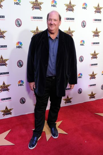 Actor Brian Baumgartner, who played Kevin Malone in NBC's The Office, attends the 2020 Beverly Hills Dog Show. (Photo by Sarah Morris/Getty Images)