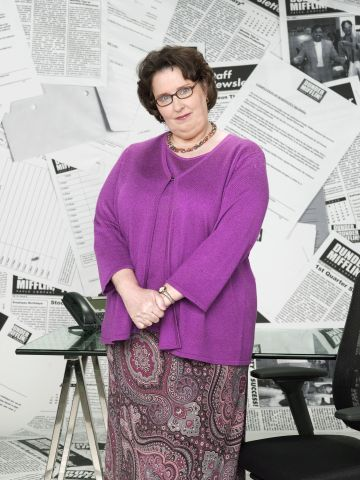 Phyllis Smith as Phyllis Lapin in NBC's The Office. NBC Photo: Mitchell Haaseth