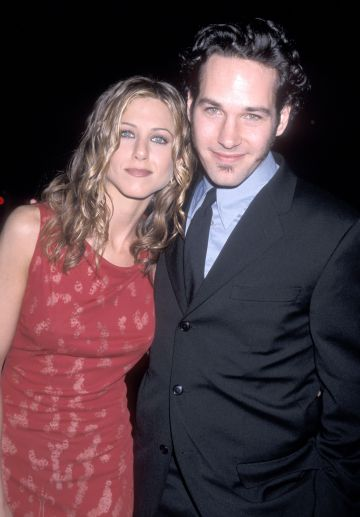 1998: Rudd pictured with co-star Jennifer Aniston. (Image via Getty Images Ron Galella Archive)
