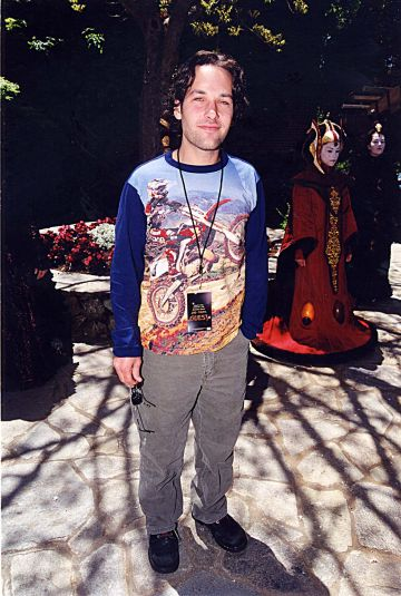 1999: Paul Rudd pictuerd at the MTV Star Wars party. (Photo by Jeff Kravitz/FilmMagic)
