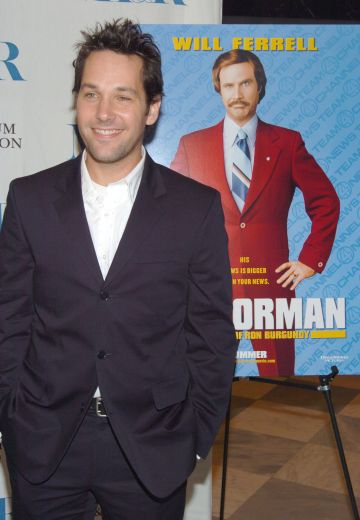 "2004: Paul Rudd during ""Anchorman The Legend of Ron Burgundy"" New York Premiere - Inside Arrivals at The Museum of Television and Radio in New York City, New York, United States. (Photo by Dimitrios Kambouris/WireImage)"