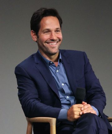"2015: Paul Rudd discussess the film ""Ant-Man"" during Apple Store Soho: Meet The Filmmaker on July 16, 2015 in New York City.  (Photo by Laura Cavanaugh/Getty Images)"