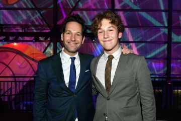 2020: (L-R) Paul Rudd and his son Jack Sullivan Rudd attend AT&T TV Super Saturday Night at Meridian at Island Gardens on February 01, 2020 in Miami, Florida. (Photo by Mike Coppola/Getty Images for AT&T)