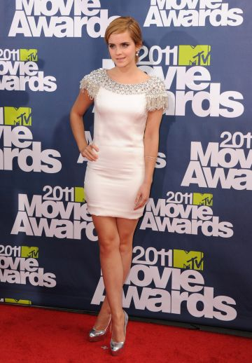Actress Emma Watson arrives at the 2011 MTV Movie Awards  at Gibson Amphitheatre on June 5, 2011 in Universal City, California. (Photo by Jon Kopaloff/FilmMagic)
