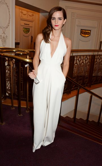 Emma Watson, winner of the British Style award, attends the British Fashion Awards at the London Coliseum on December 1, 2014 in London, England.  (Photo by David M. Benett/Getty Images)