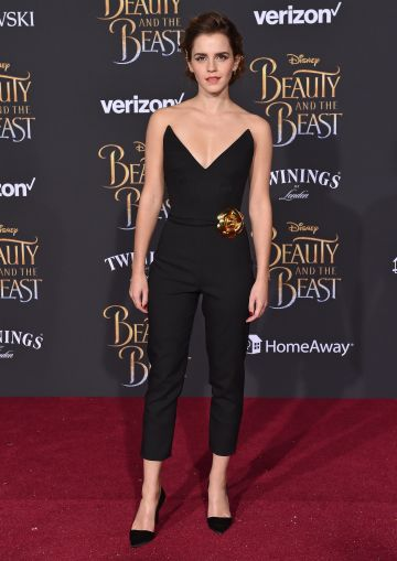 Actress Emma Watson arrives at the Los Angeles Premiere of 'Beauty and the Beast' at El Capitan Theatre on March 2, 2017 in Los Angeles, California.  (Photo by Axelle/Bauer-Griffin/FilmMagic)