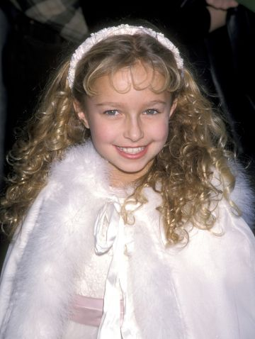 Hayden Panettiere pictued at the premiere of 'A Bug's Life' in 1998. Hayden voiced the character of Dot at just 9 years old. (Photo by Ron Galella/Ron Galella Collection via Getty Images)