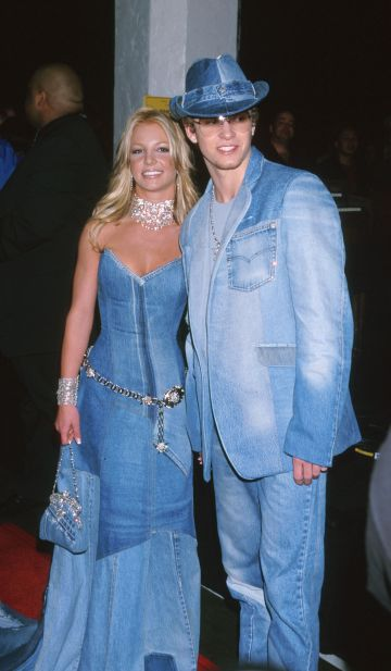 Britney Spears and Justin Timberlake of NSYNC at the Shrine Auditorium in Los Angeles, CA (Photo by Jeffrey Mayer/WireImage)