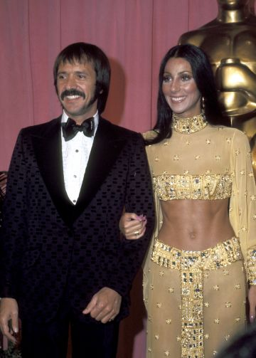 Sonny Bono And Cher pictured at the 24th Annual Academy Awards. (Photo by Ron Galella/Ron Galella Collection via Getty Images)