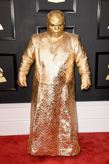 Singer Gnarly Davidson (aka CeeLo Green) attends The 59th GRAMMY Awards at STAPLES Center on February 12, 2017 in Los Angeles, California.  (Photo by Frazer Harrison/Getty Images)