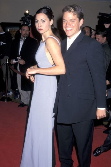 1997: Minnie Driver and Matt Damon at the AFI Benefit Premiere of Good Will Hunting Mann Bruin Theatre in Westwood, CA (Photo by Jim Smeal/Ron Galella Collection via Getty Images)