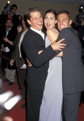 1997: Matt Damon, Minnie Driver, and Ben Affleck (Photo by Ron Galella/Ron Galella Collection via Getty Images)