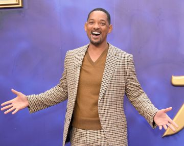"""2019: Will Smith attends the """"Aladdin"""" European Gala at Odeon Luxe Leicester Square on May 09, 2019 in London, England. (Photo by Karwai Tang/WireImage)"""